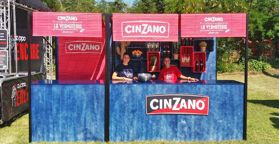Stand Vermouth Cinzano Festival DECODE Madrid